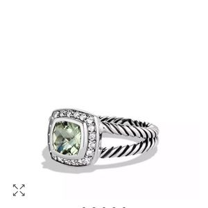 David Yurman Petite Albion ring prasiolite